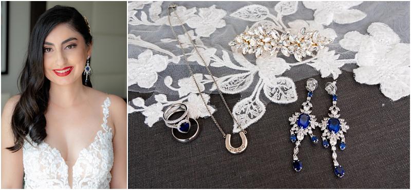 saphire wedding jewelry