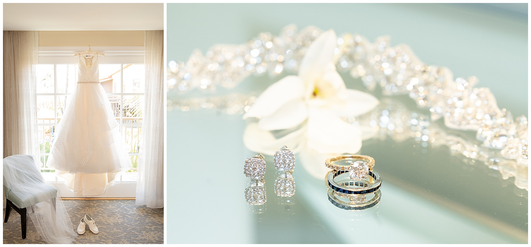 wedding dress and details photo