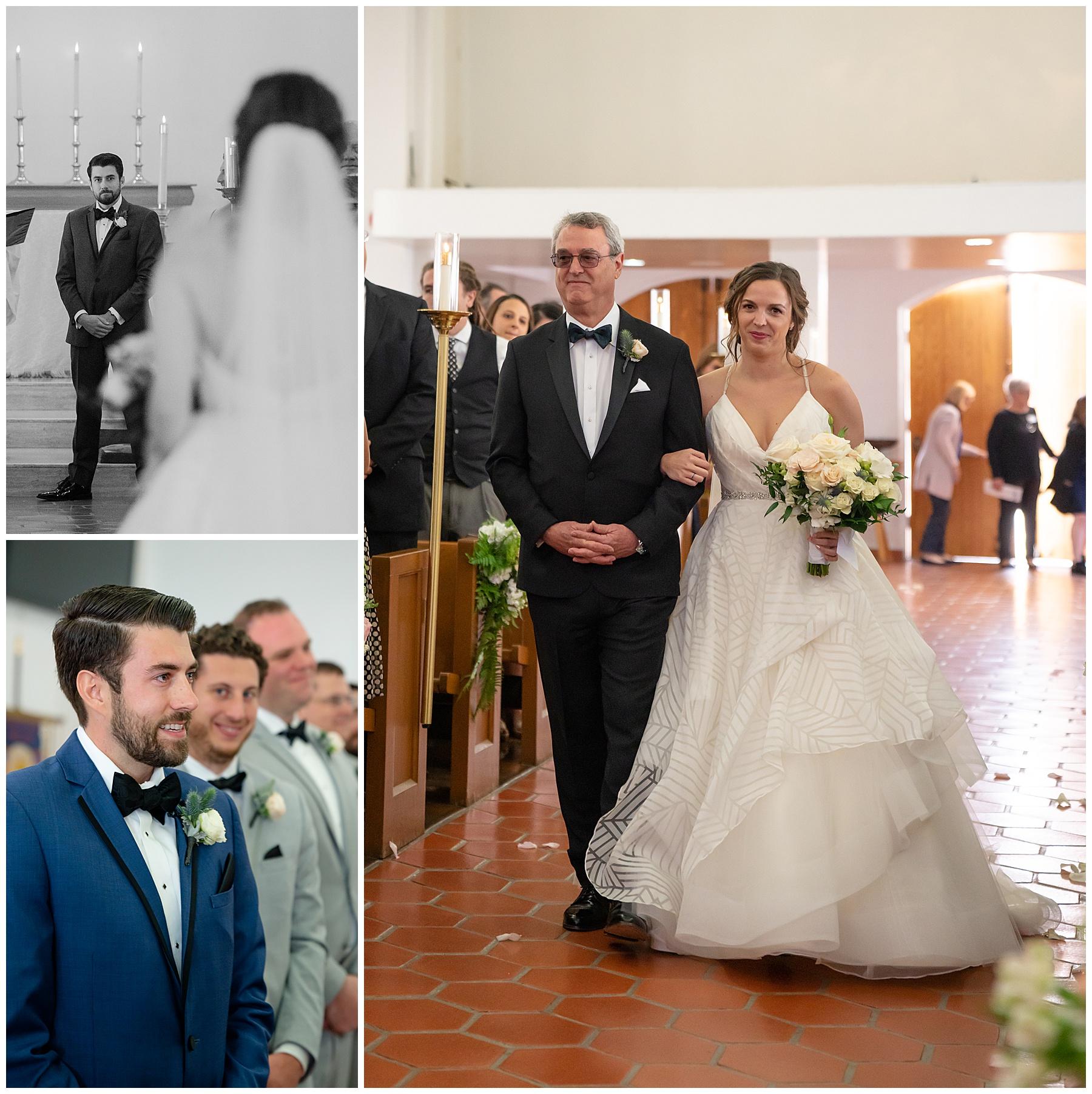 bride walking down the aisle st margaret's episcopal church san juan capistrano ca