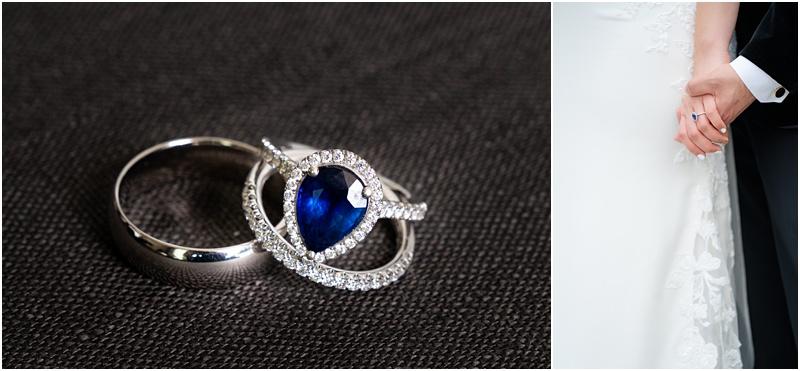 saphire wedding ring