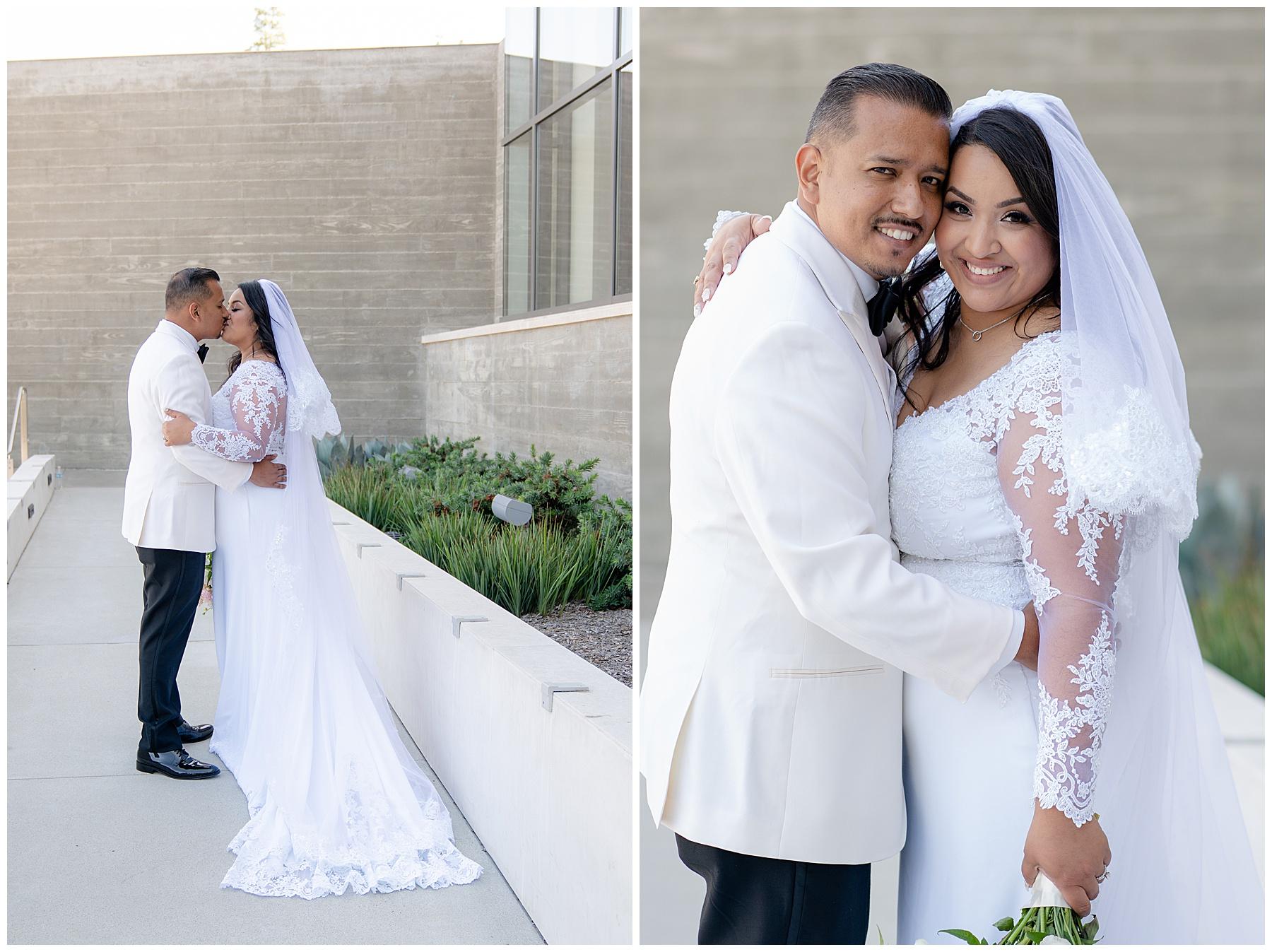 church wedding portrait
