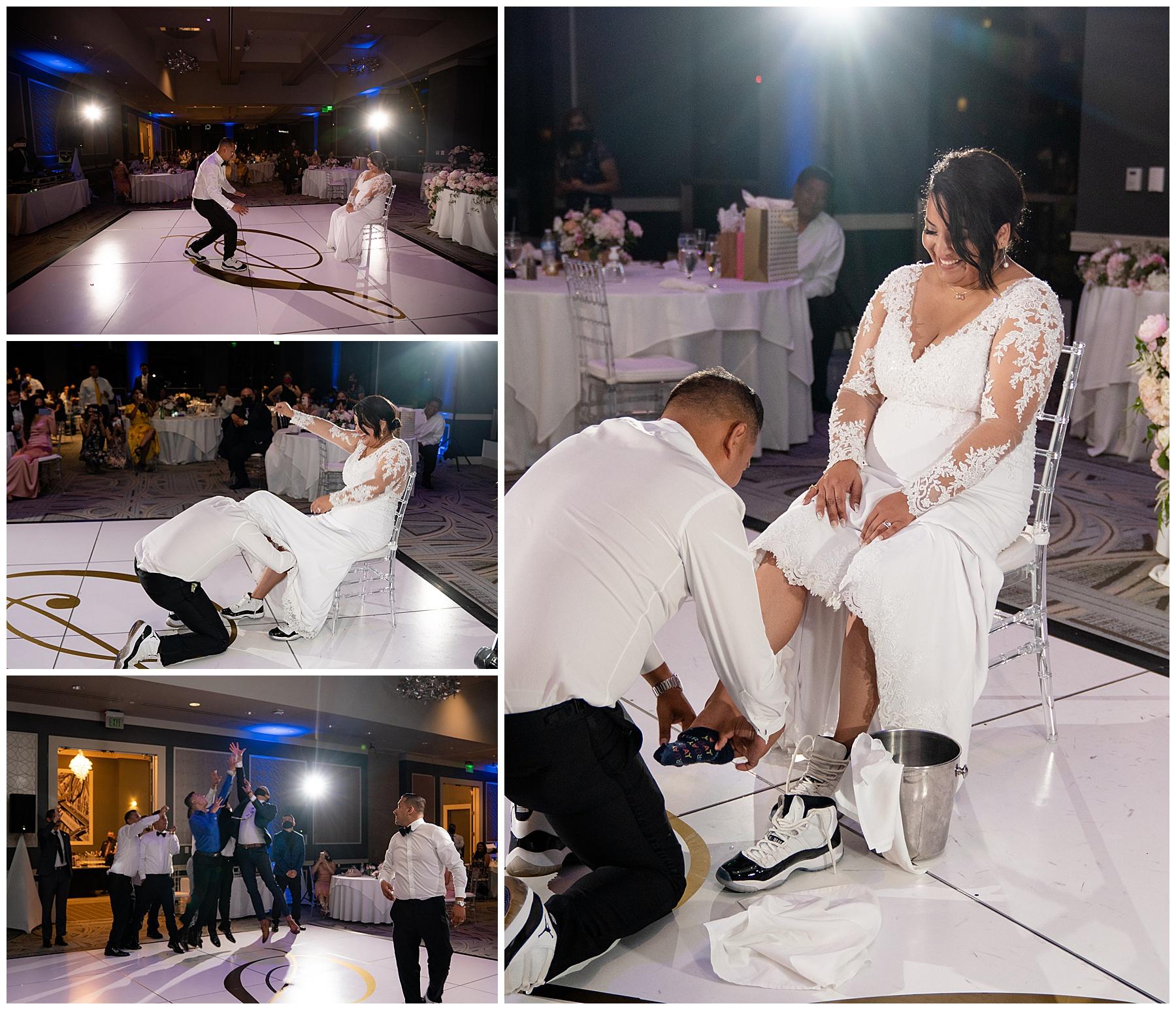 garter belt removal city club la wedding