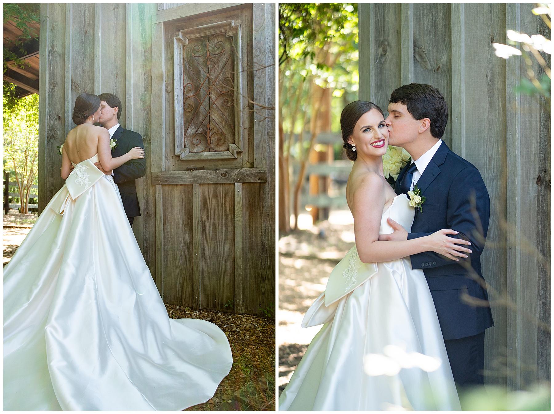 j&d farms wedding white satin dress