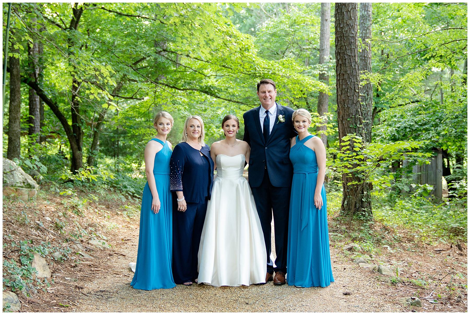 j&d farms wedding family photo