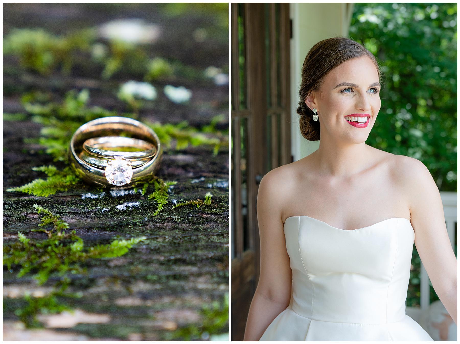 wedding ring on moss