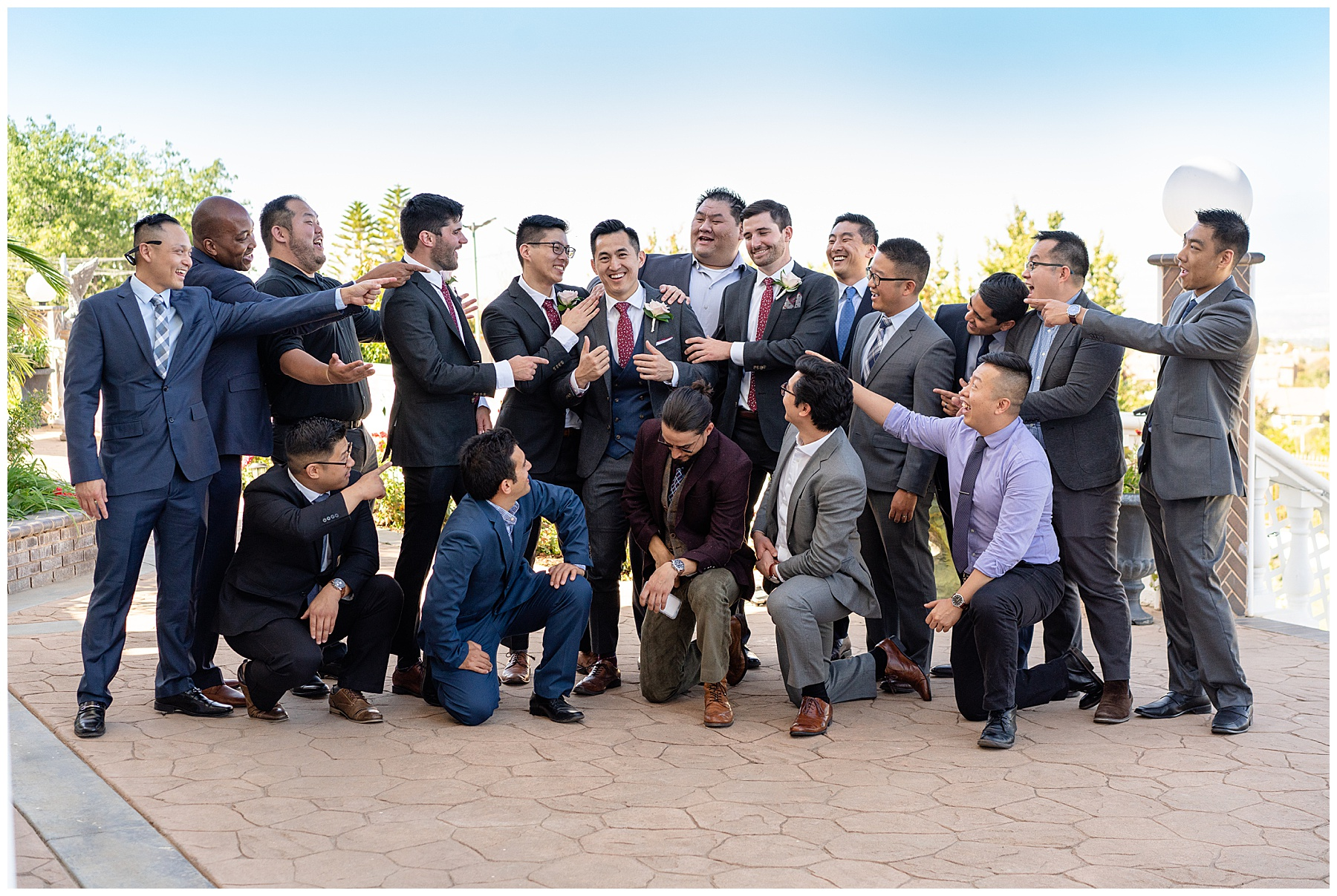grooms group photo