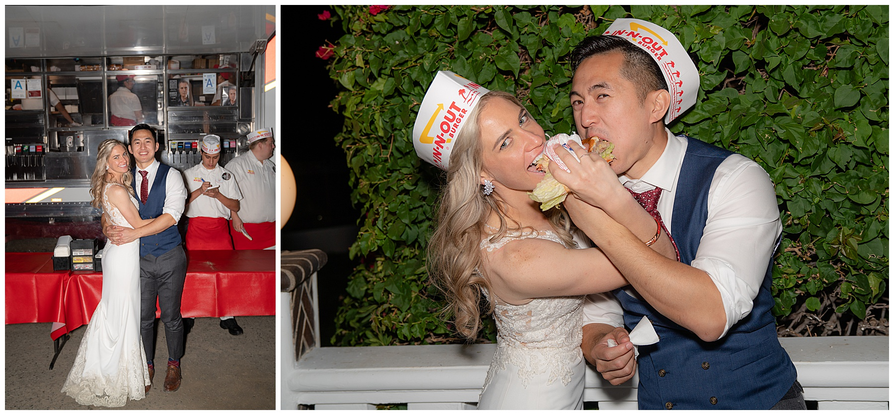 in n' out truck wedding catering