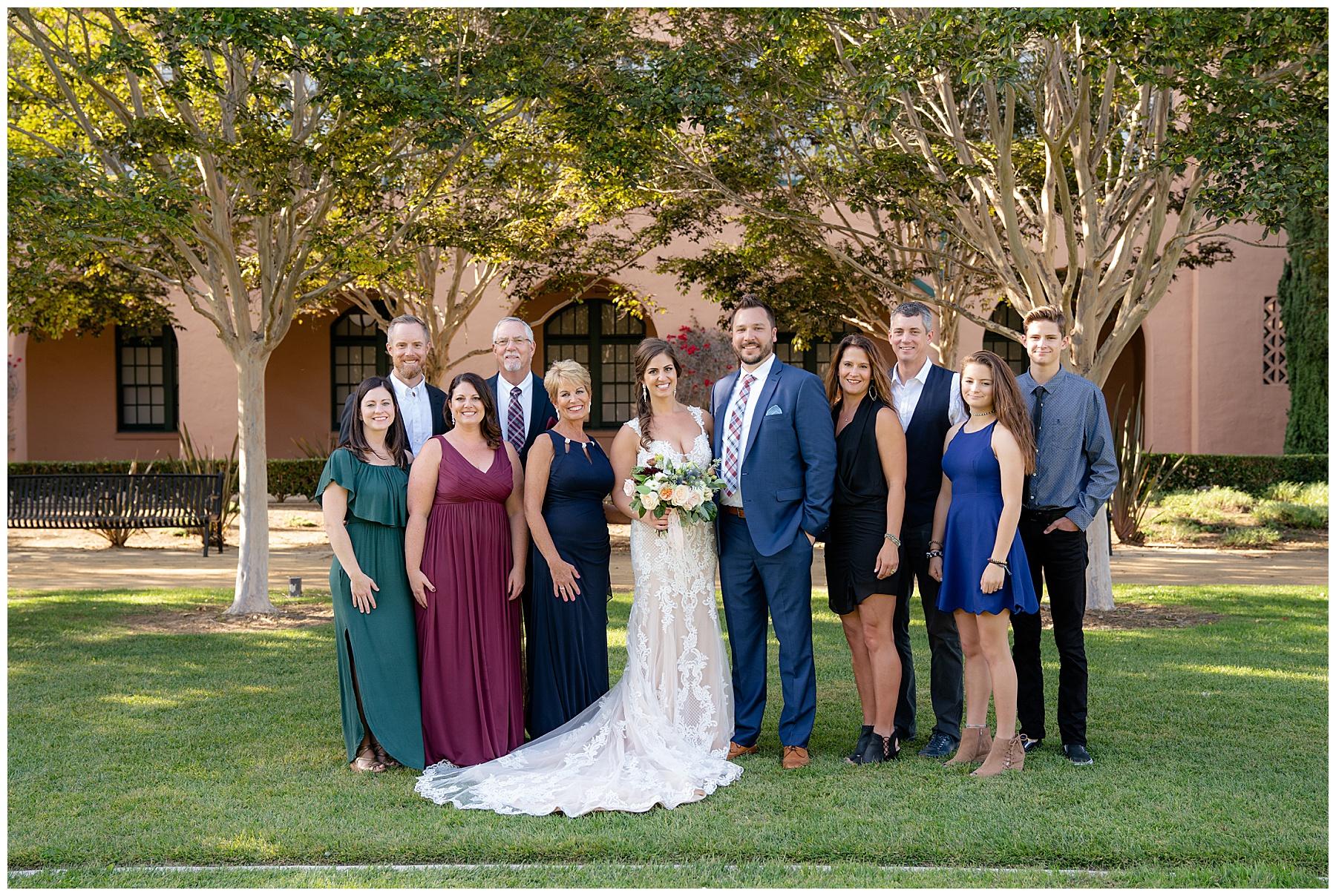 brick wedding family photos