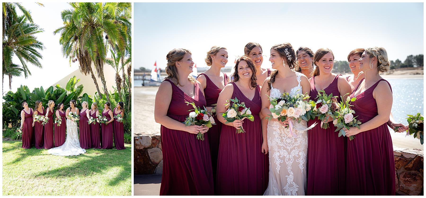 the hilton bayfront bridal party photos