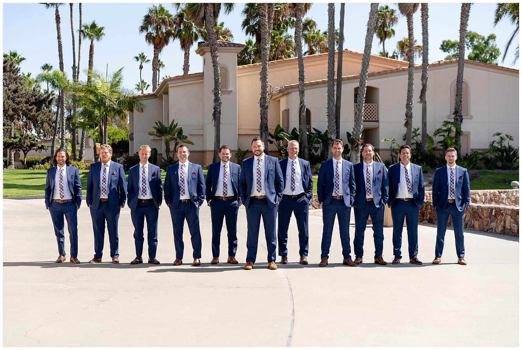 the hilton bayfront groomsmen photos