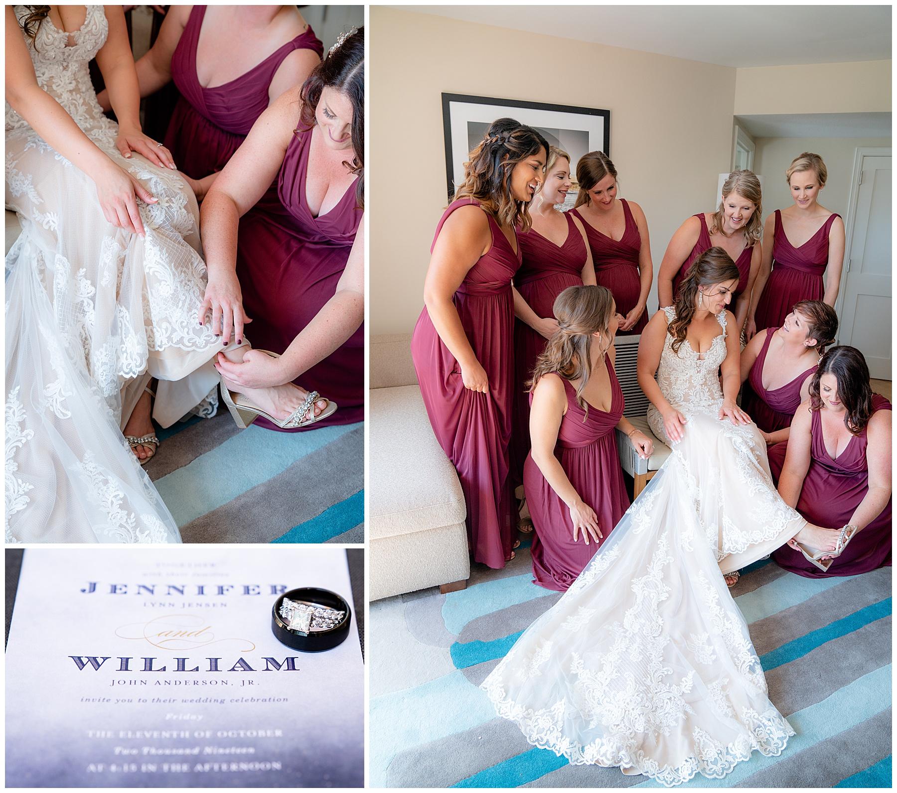 the hilton bayfront wedding prep