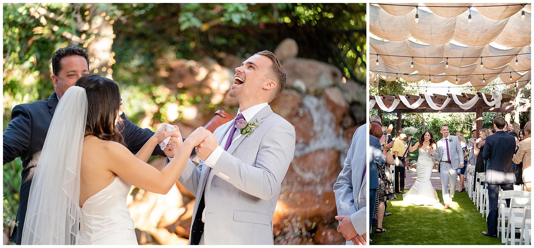calamigos equestrian center wedding ceremony