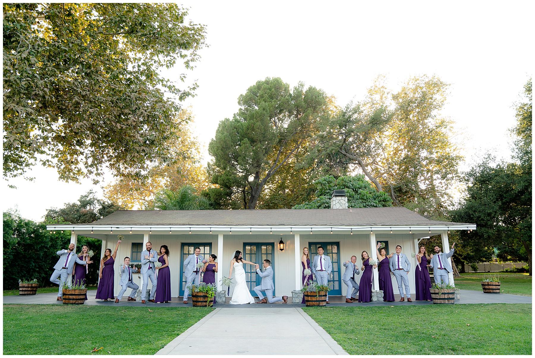 calamigos equestrian center wedding party