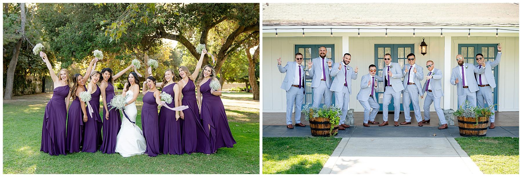 calamigos equestrian center wedding wedding party