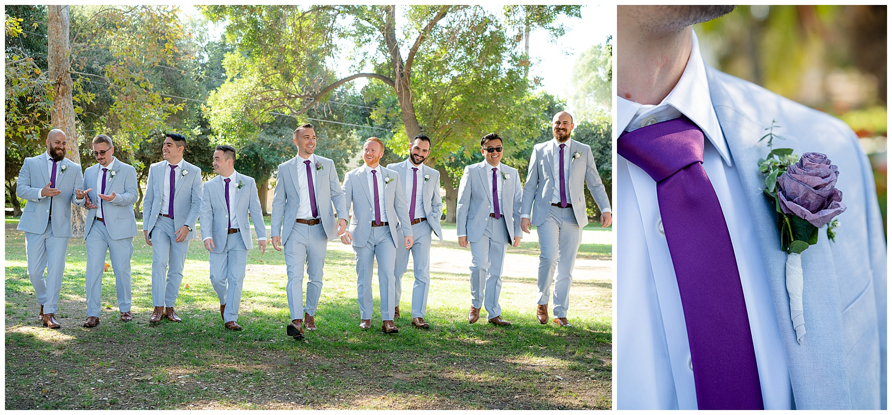 calamigos equestrian center wedding groomsmen