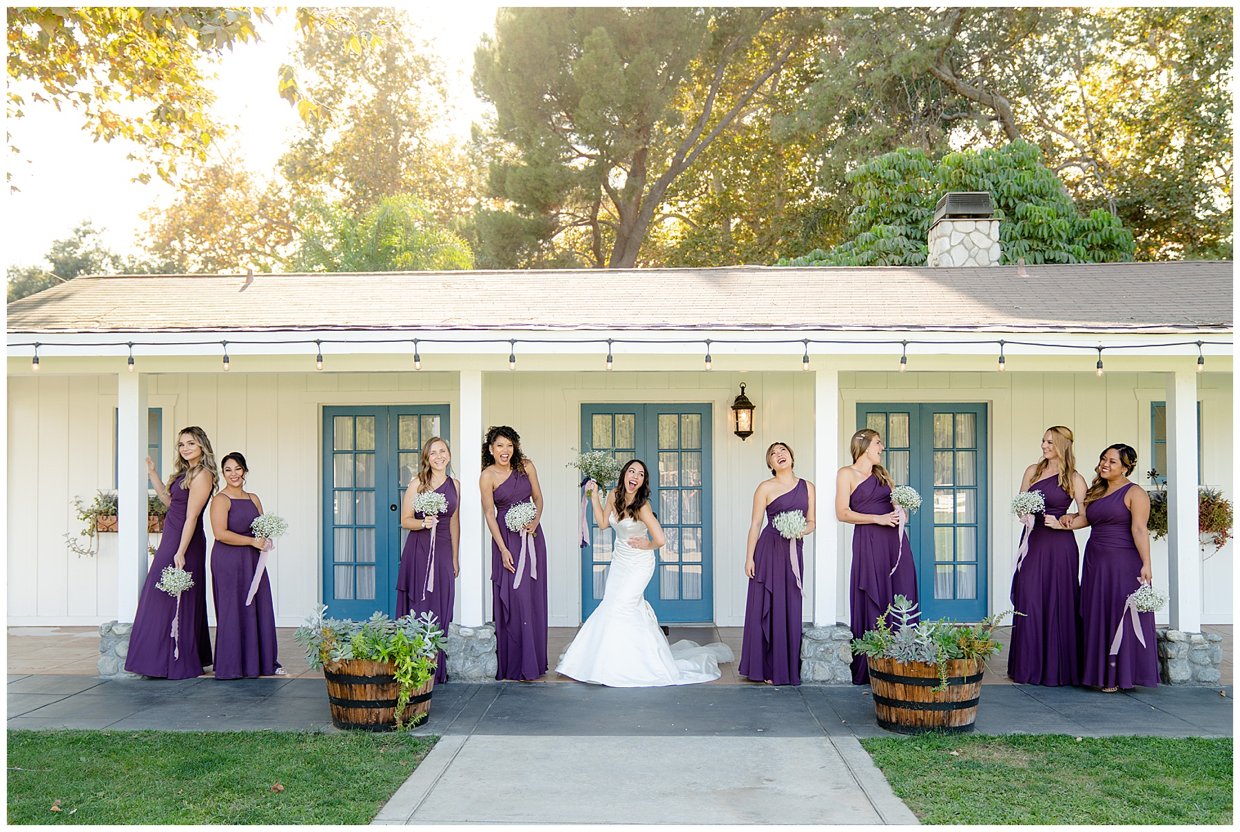 calamigos equestrian center wedding bridal party
