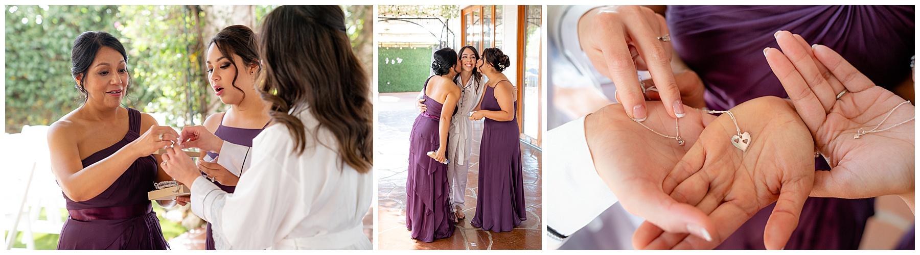 mom and sister gift to bride calamigos equestrian center wedding