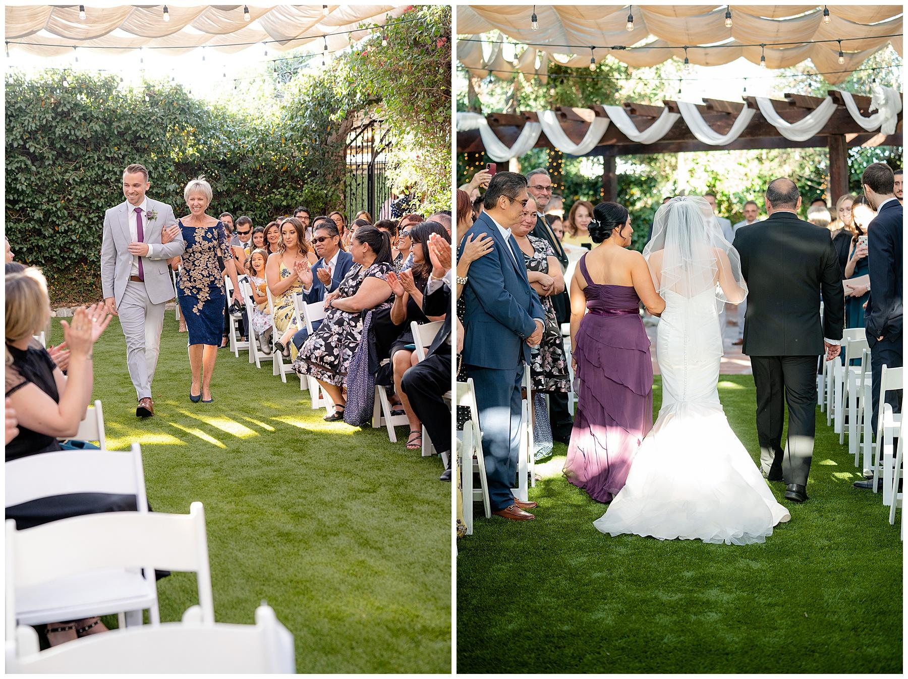 calamigos equestrian center wedding here comes the bride
