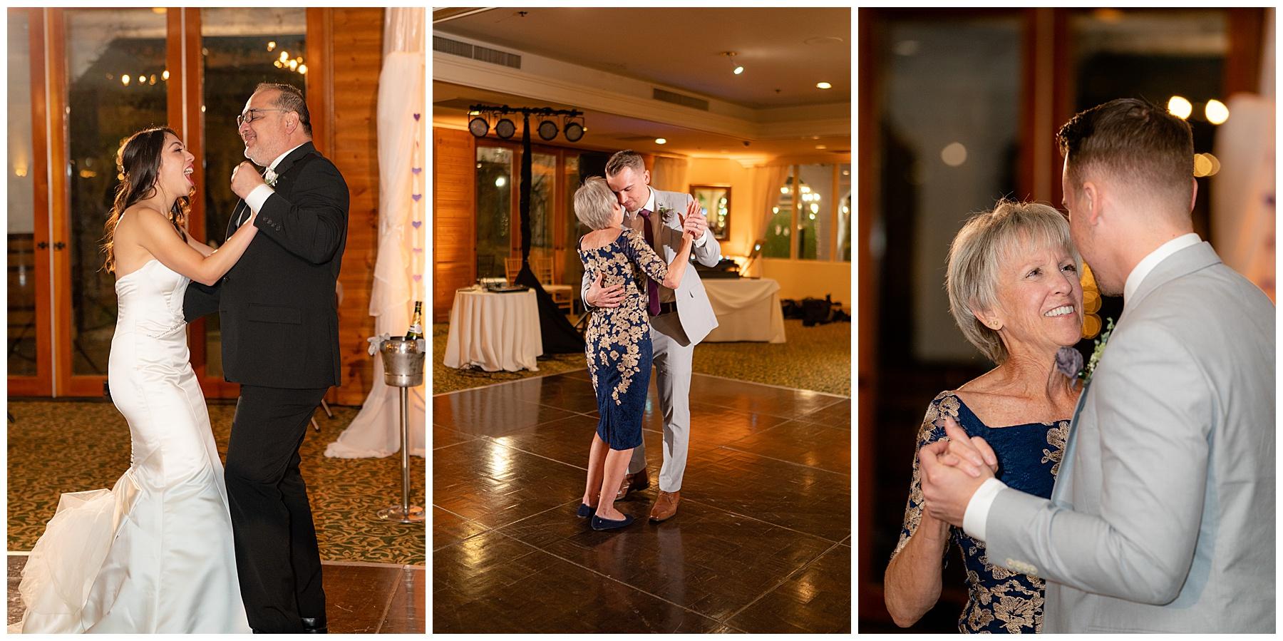 parents dances calamigos equestrian center wedding