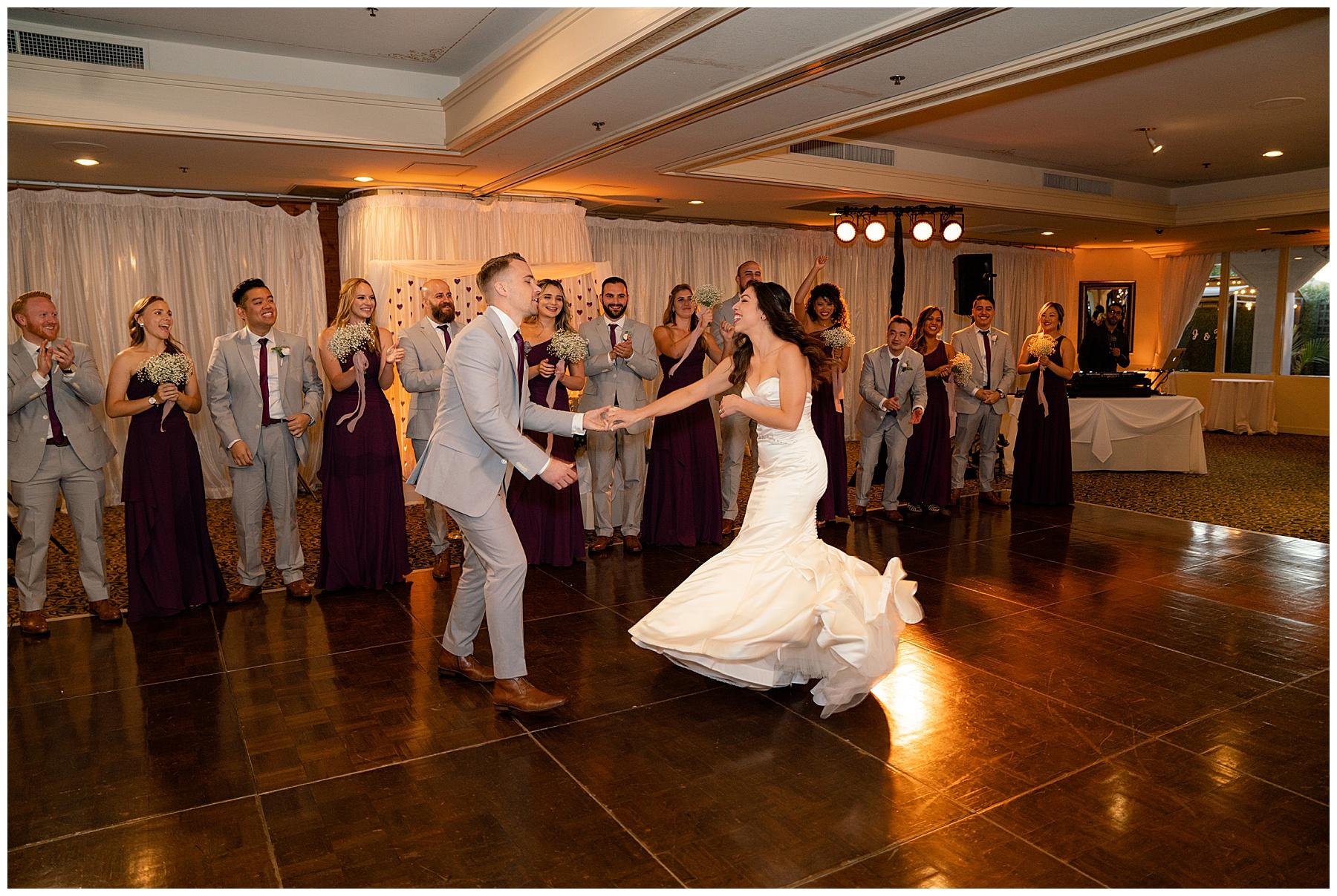 first dance calamigos equestrian center wedding