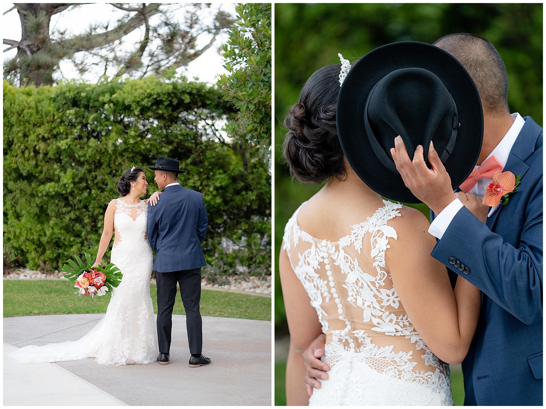 bride and groom fun photo