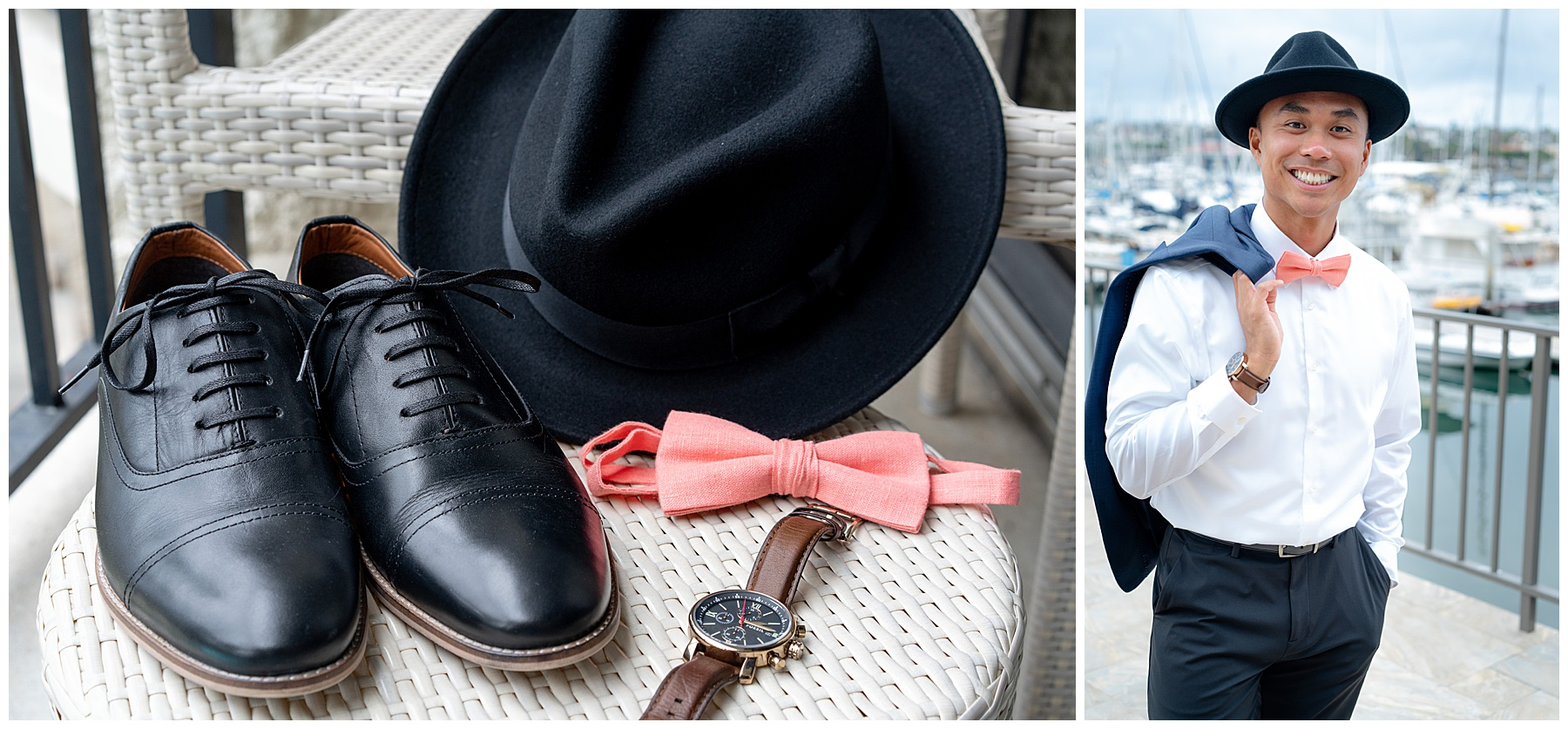groom top hat and bow tie