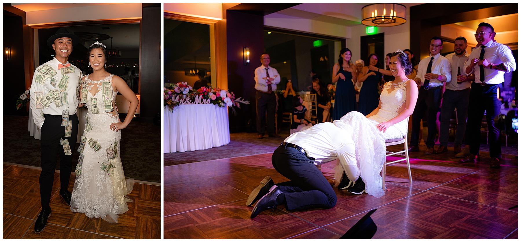 garter toss tom ham's lighthouse wedding