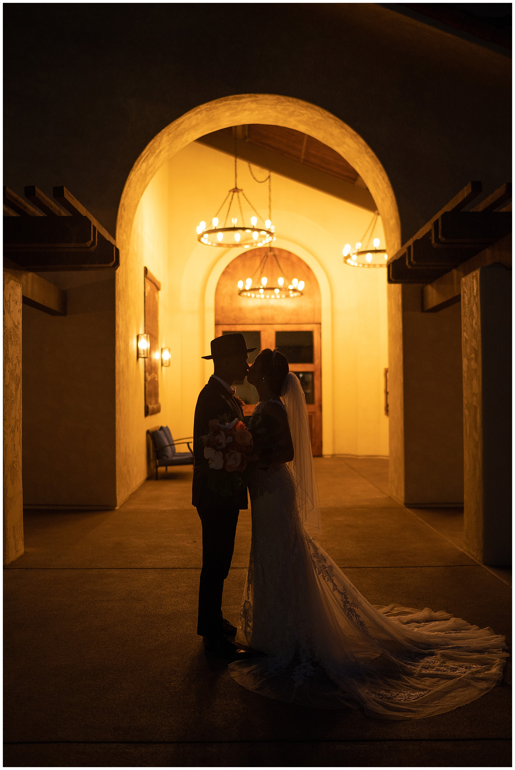 bride and groom silhouette tom ham's lighthouse wedding