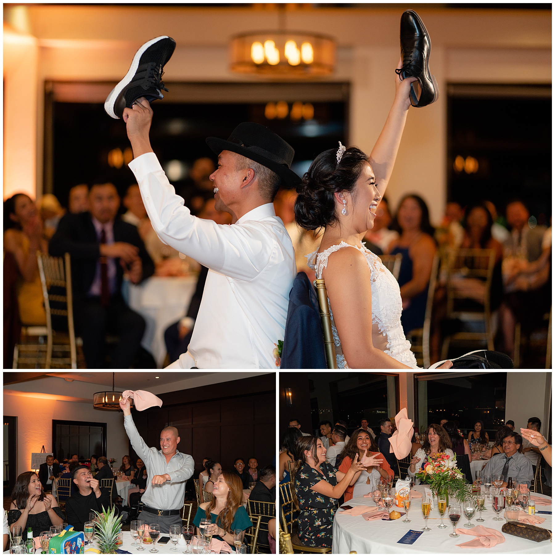 bride and groom shoe game