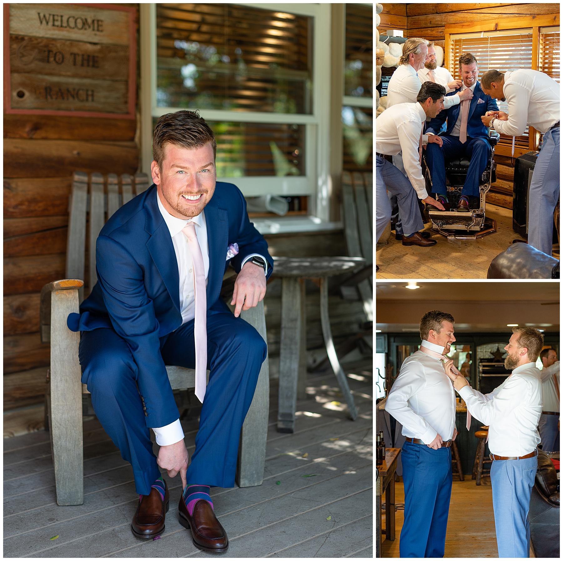 temecula california vineyard weddings groom getting ready