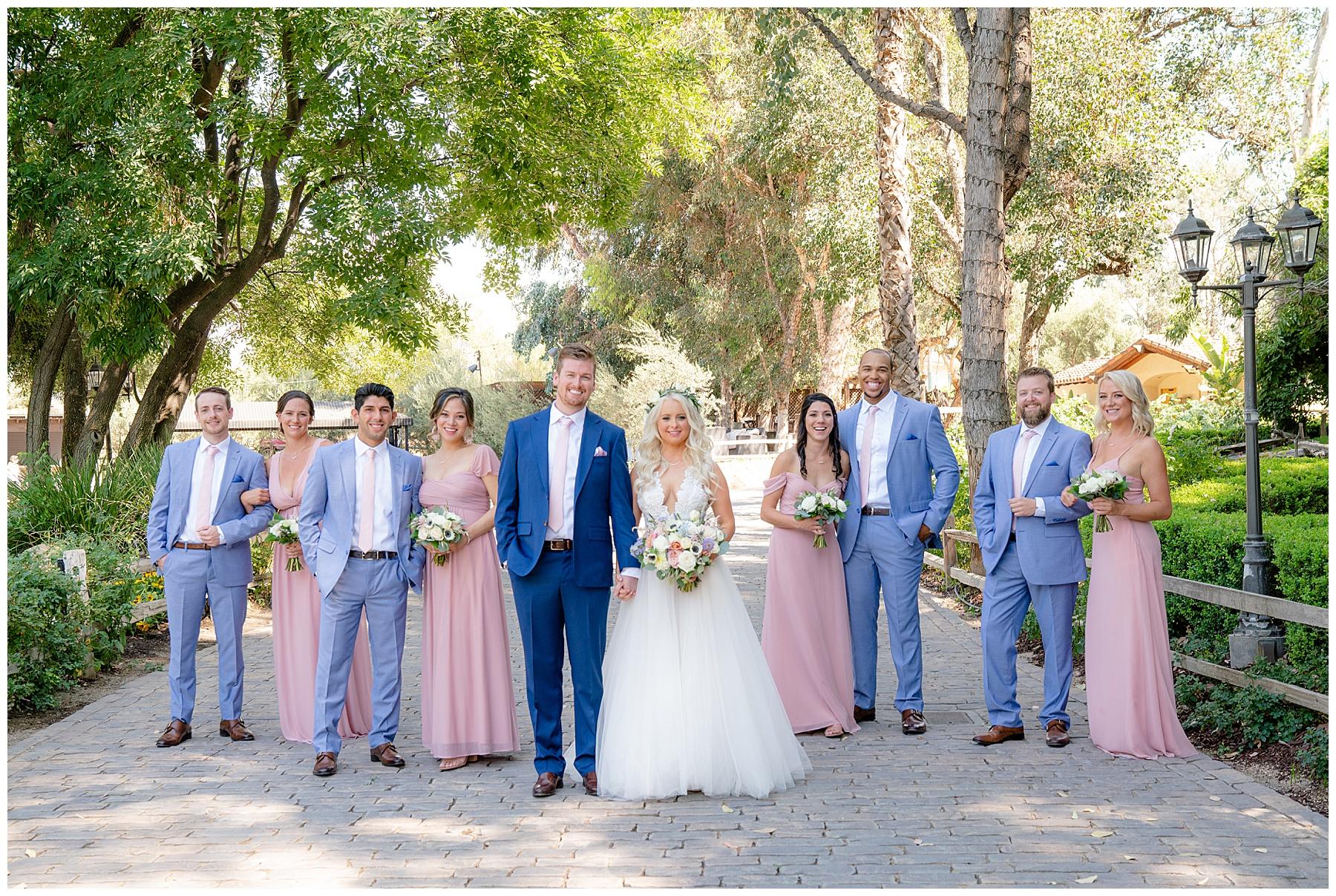 lake oak meadows wedding party