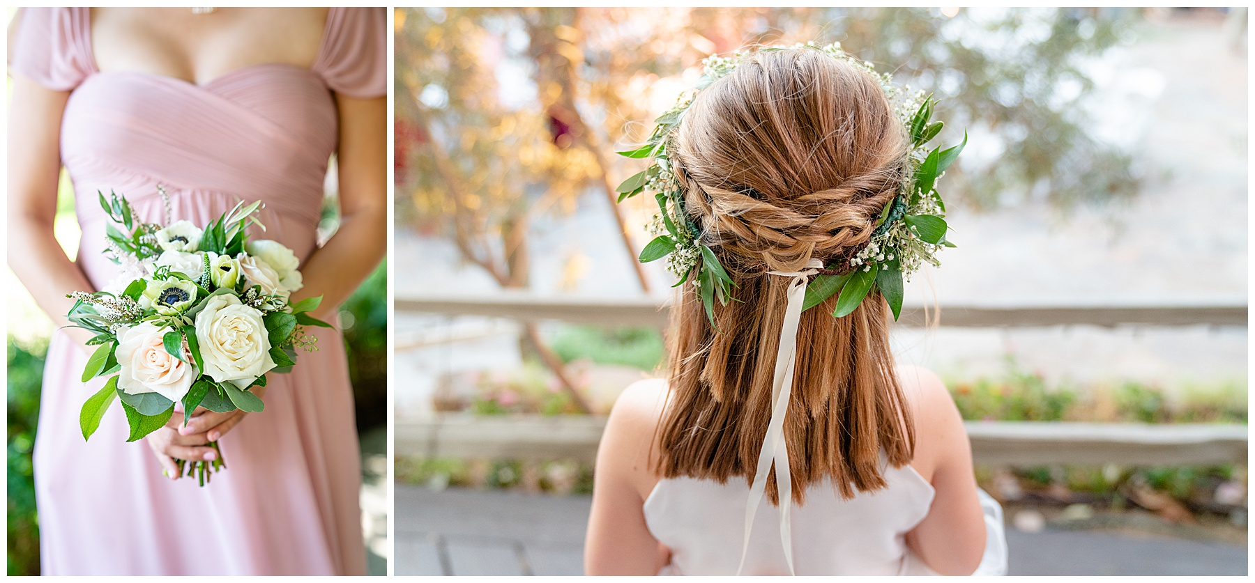flower girl hair crown