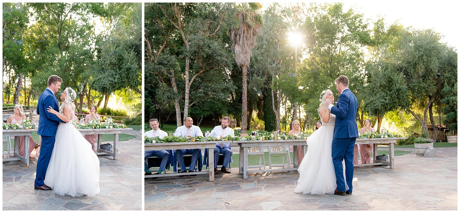 lake oak meadows weddings temecula ca first dance