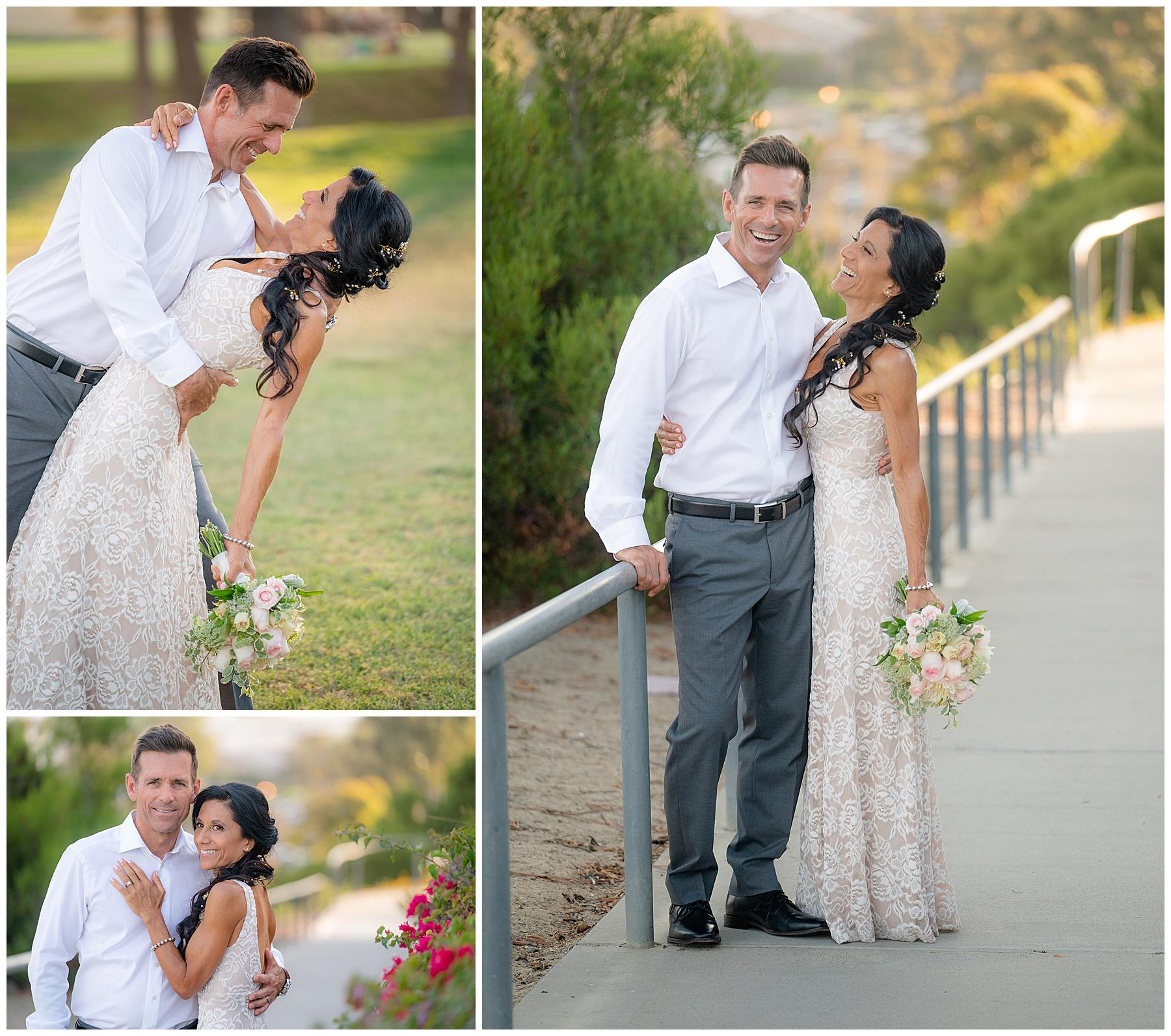 dana point wedding bride and groom
