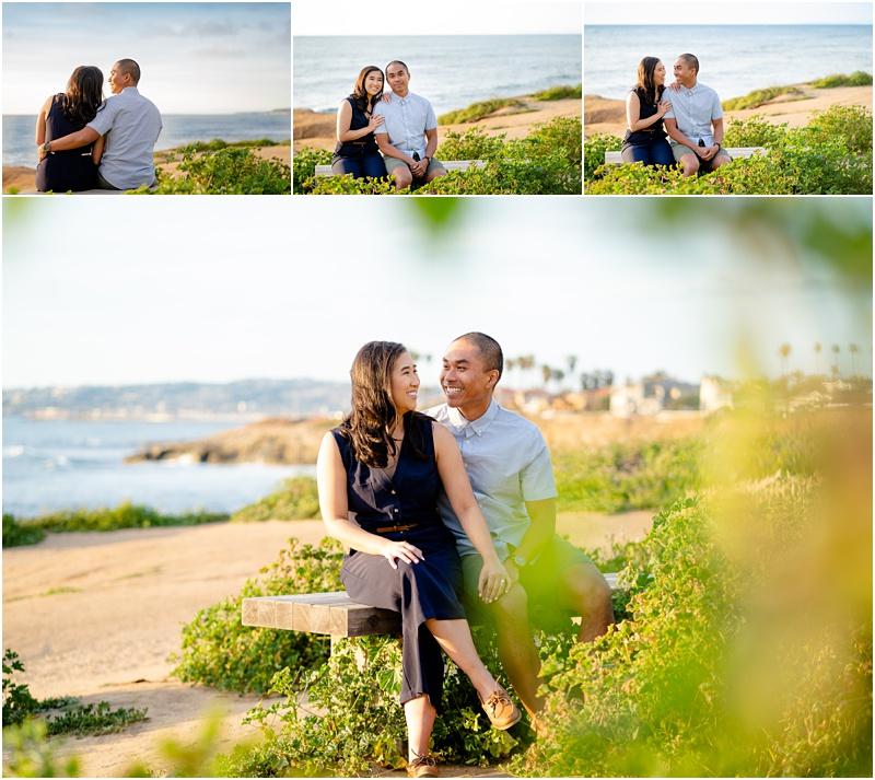 sunset cliffs engagement photo