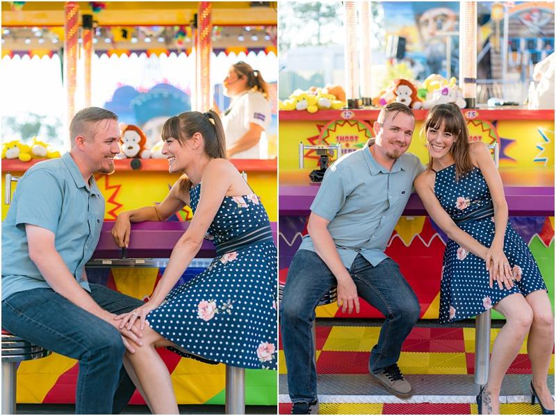 OC fair engagement photos
