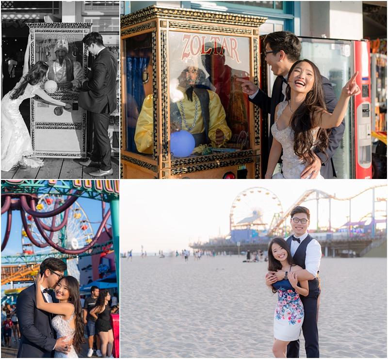 santa monica pier engagement photos