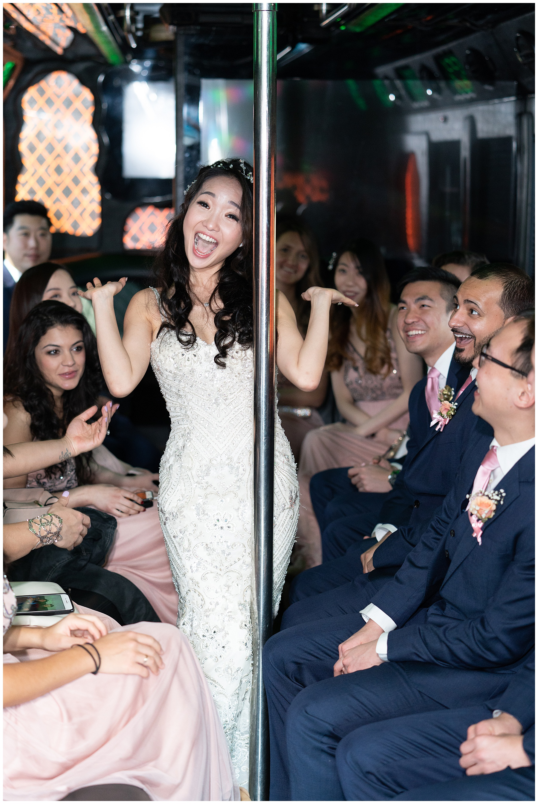 wedding party bus ride