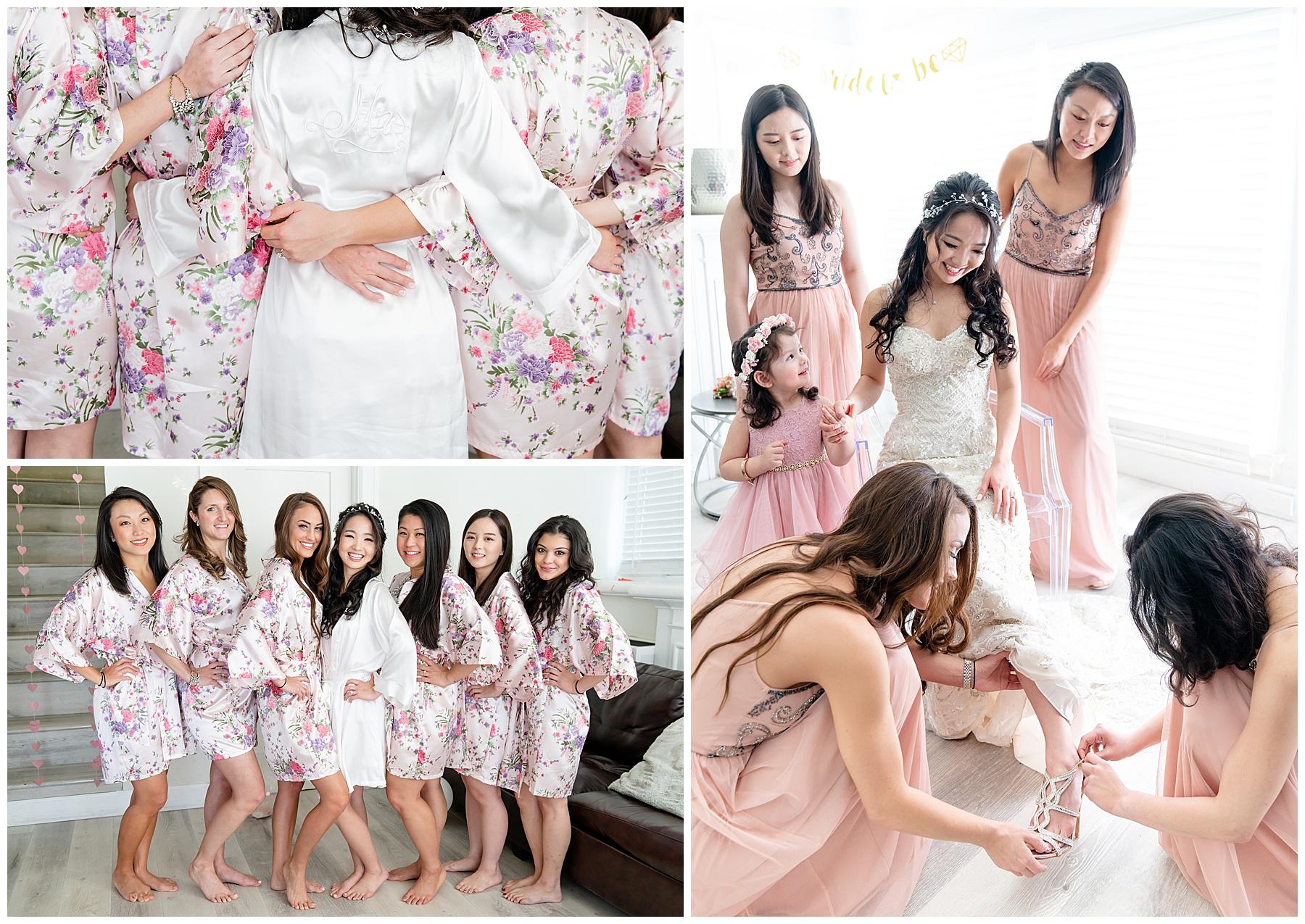flower bridesmaids robes