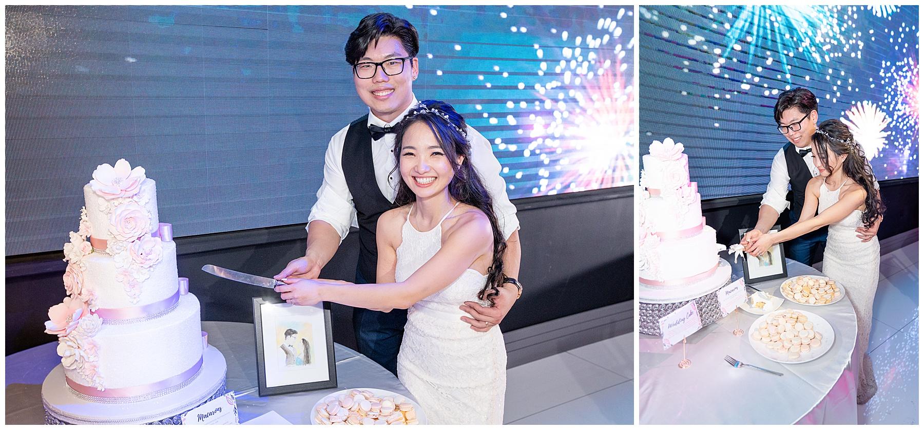 la banquets legacy ballroom cake cutting