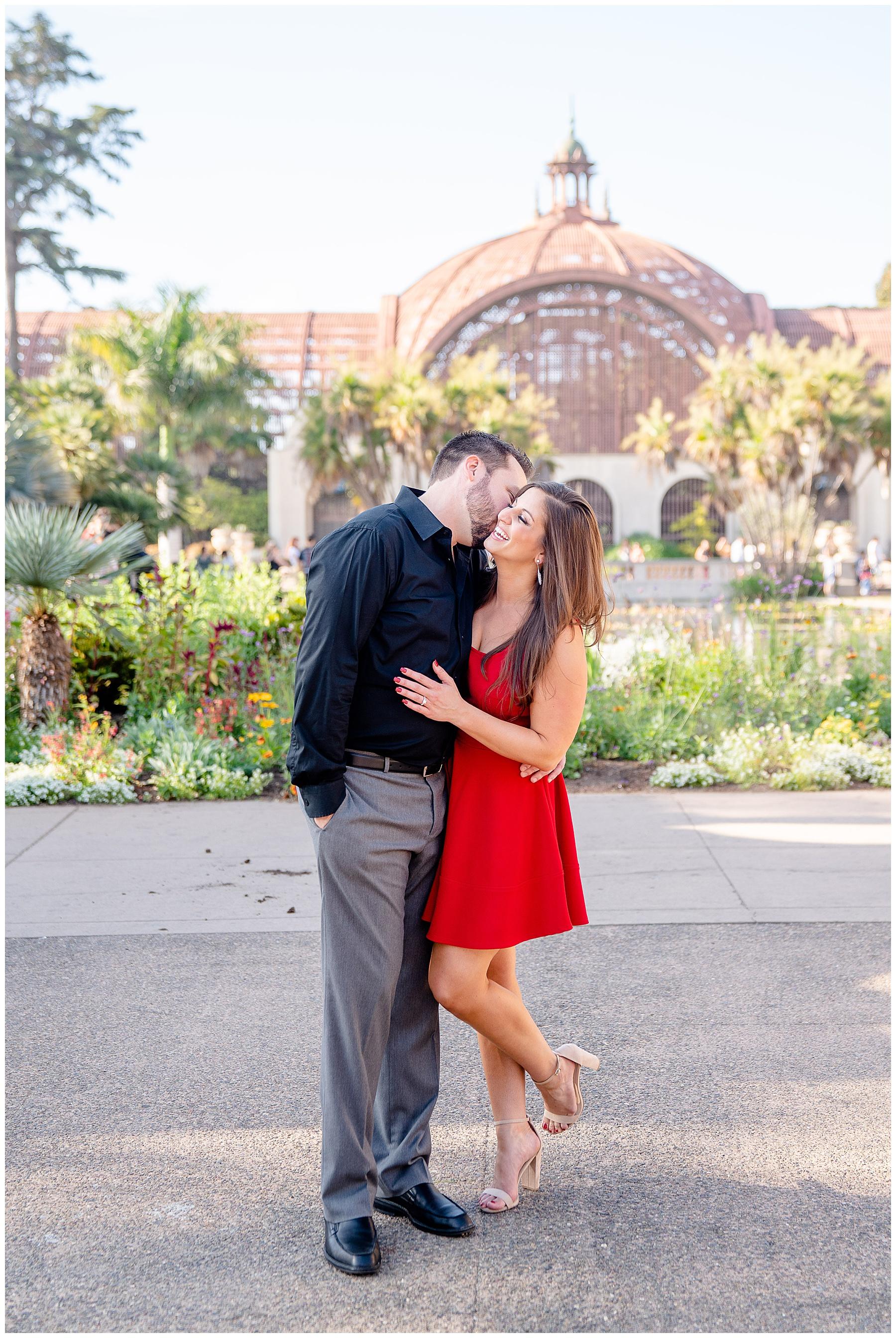 balboa park san diego engagement photos