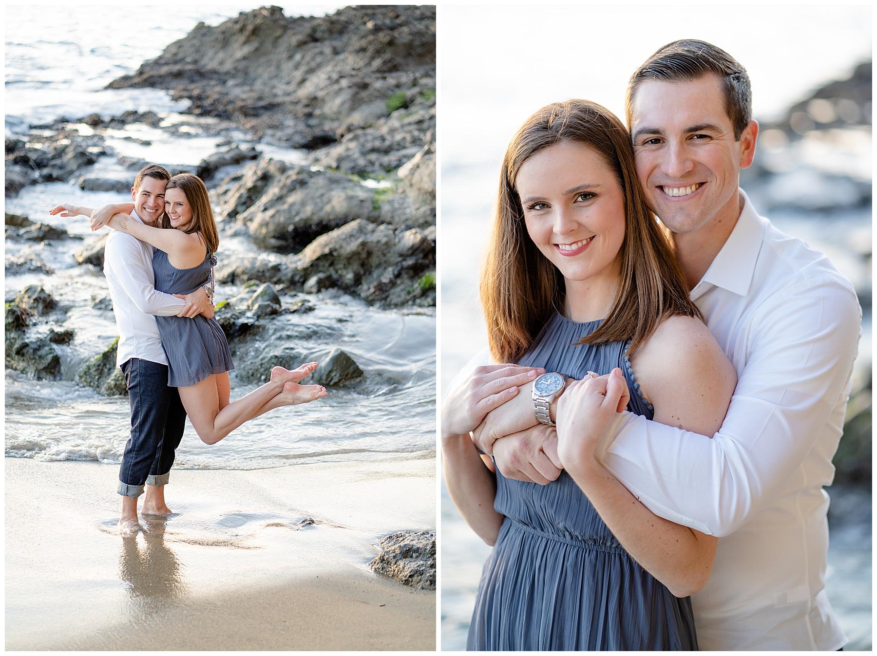 victoria beach engagement photos