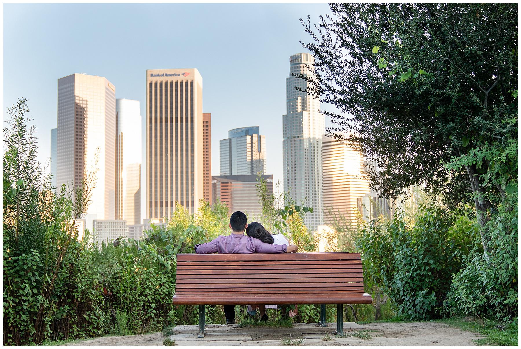 vista hermosa park bench engagement