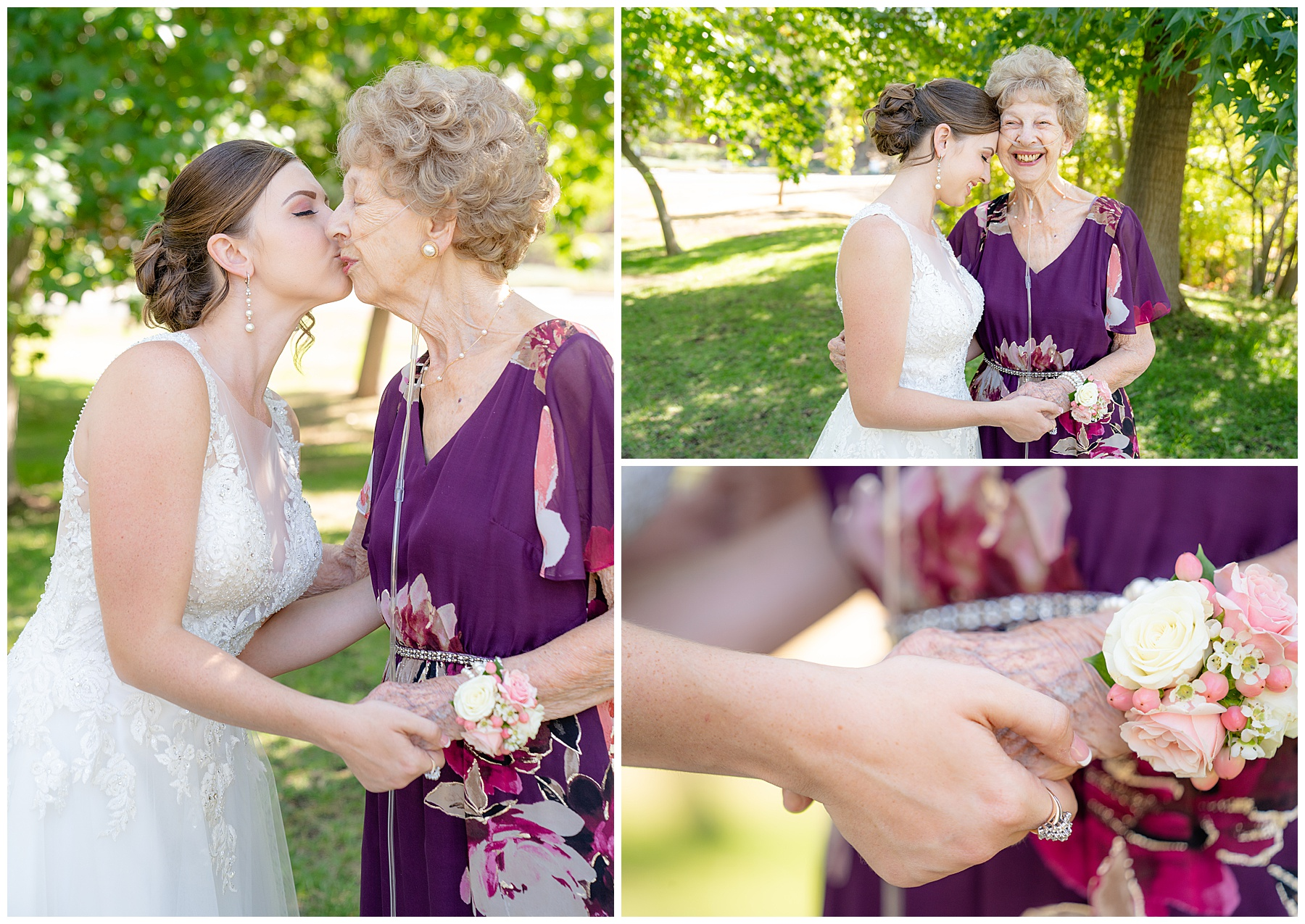 bride and grandma