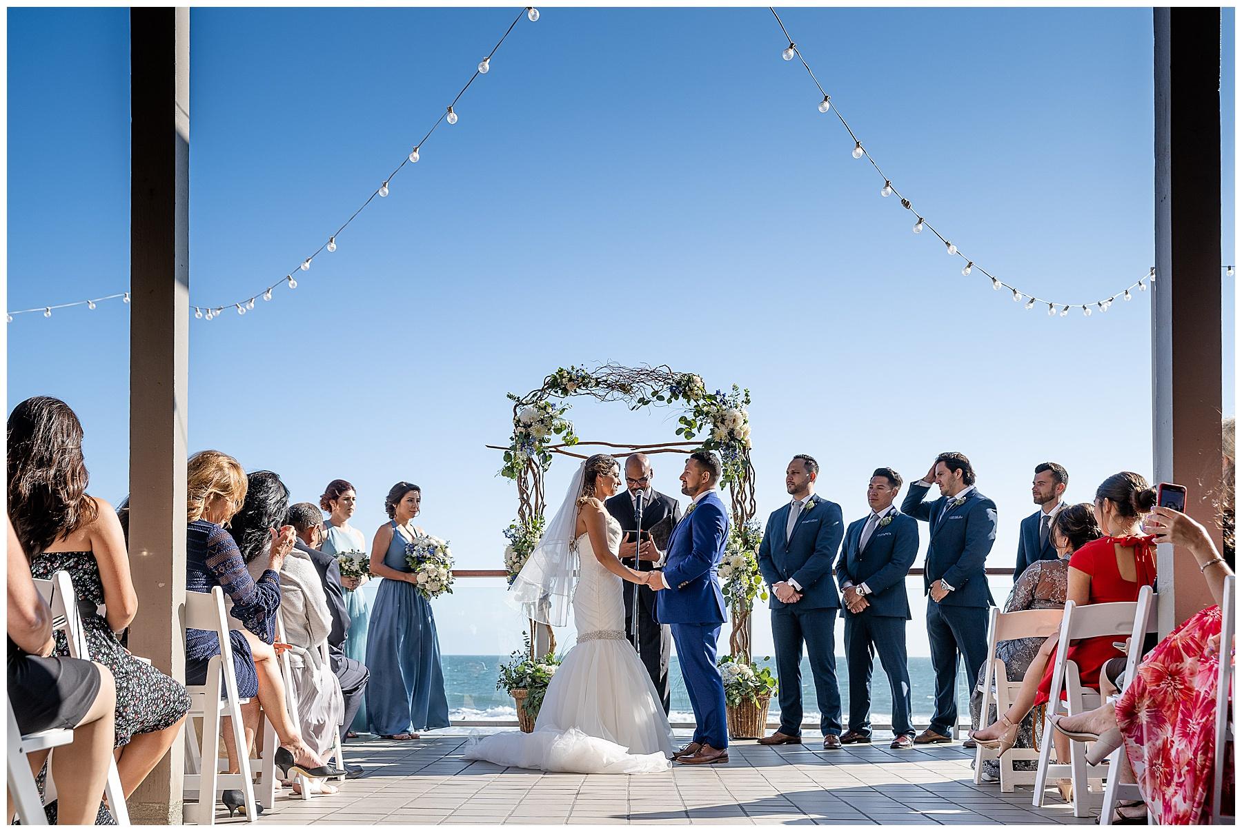 malibu west beach club wedding ceremony
