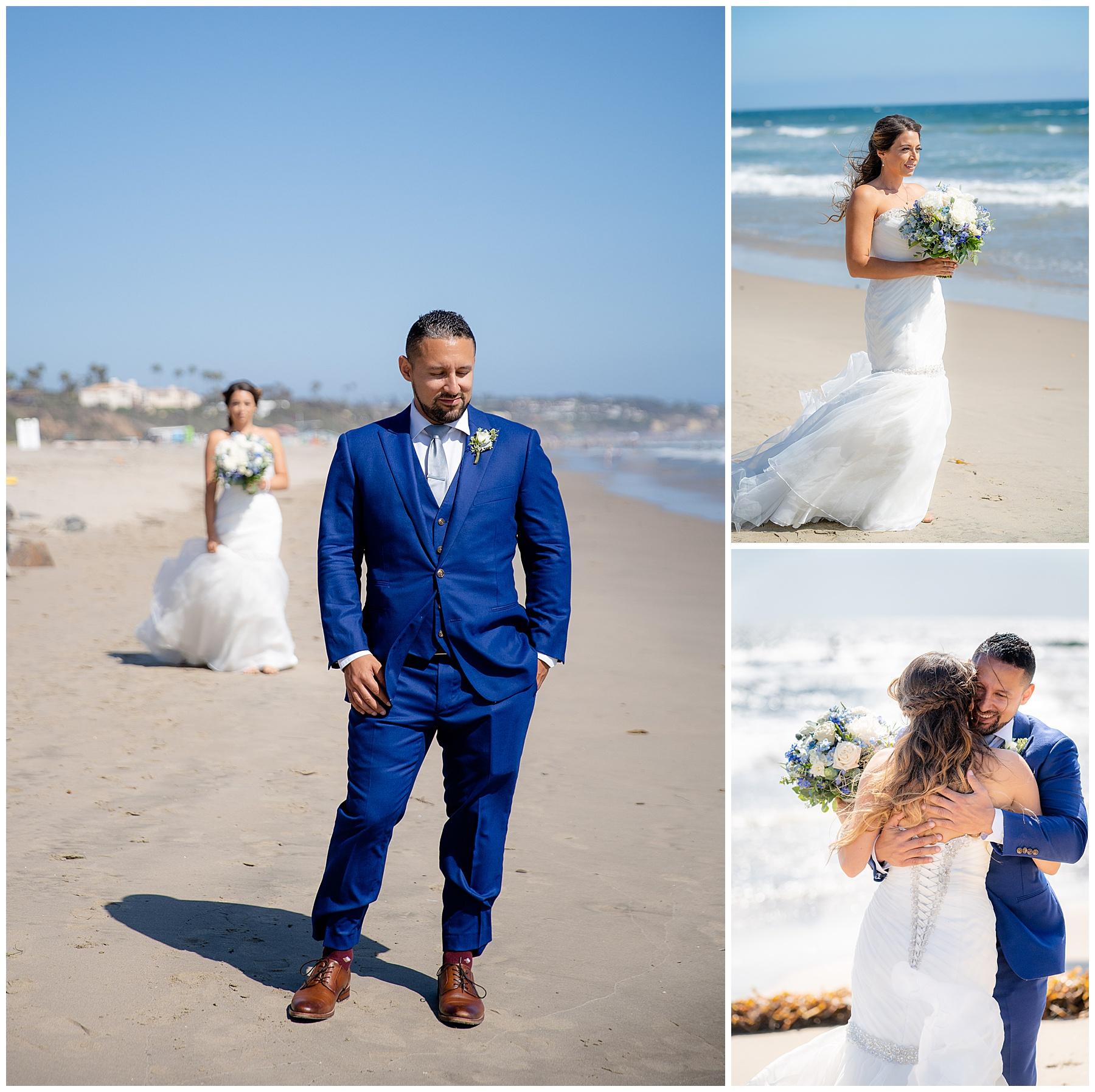 malibu wedding beach first look