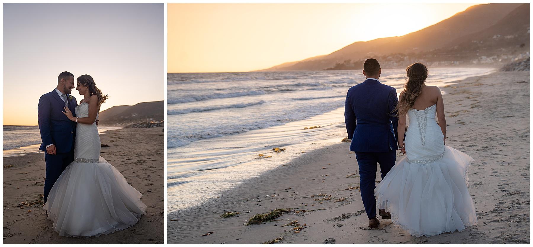 malibu beach wedding sunset