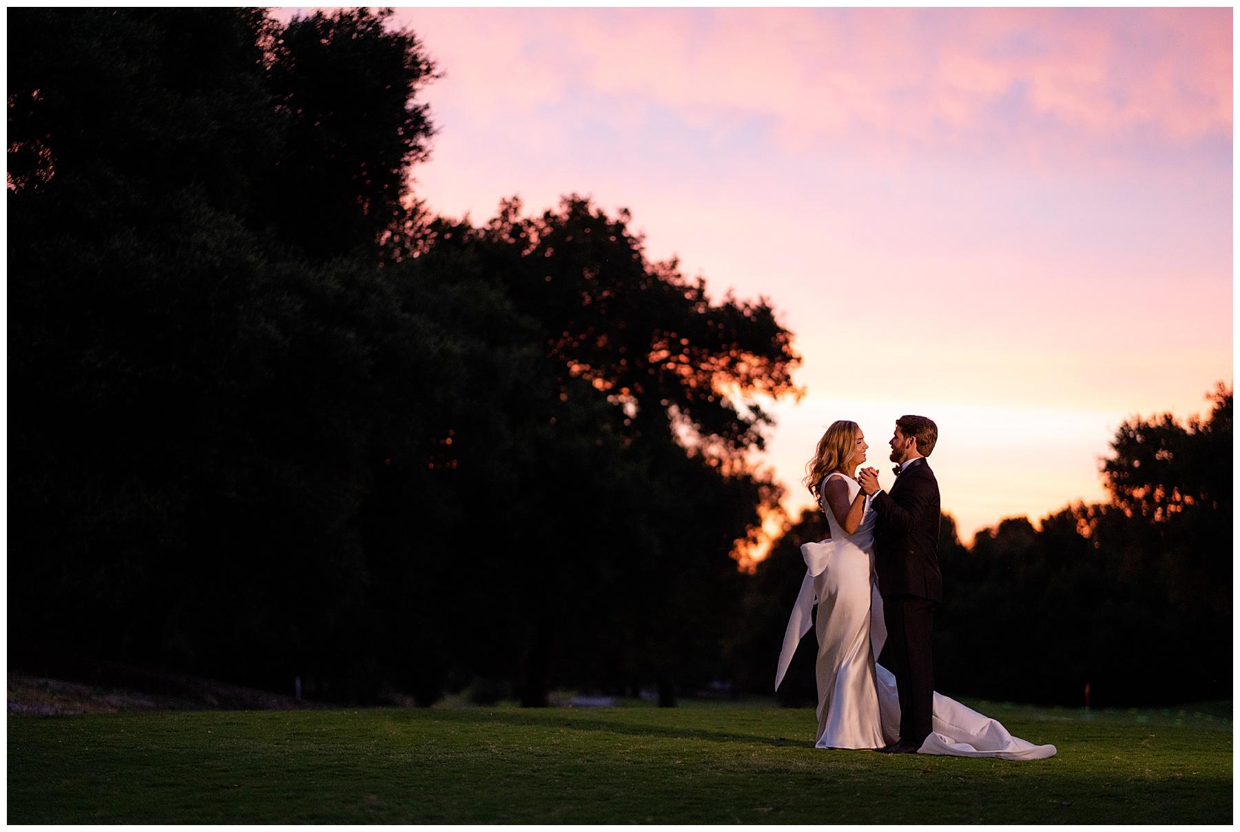 temecula creek inn wedding sunset portrait