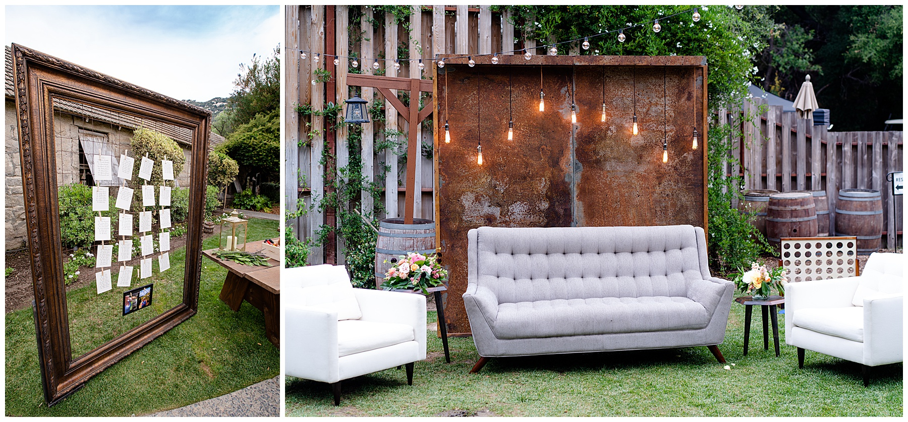 temecula creek inn wedding cocktail hour decor