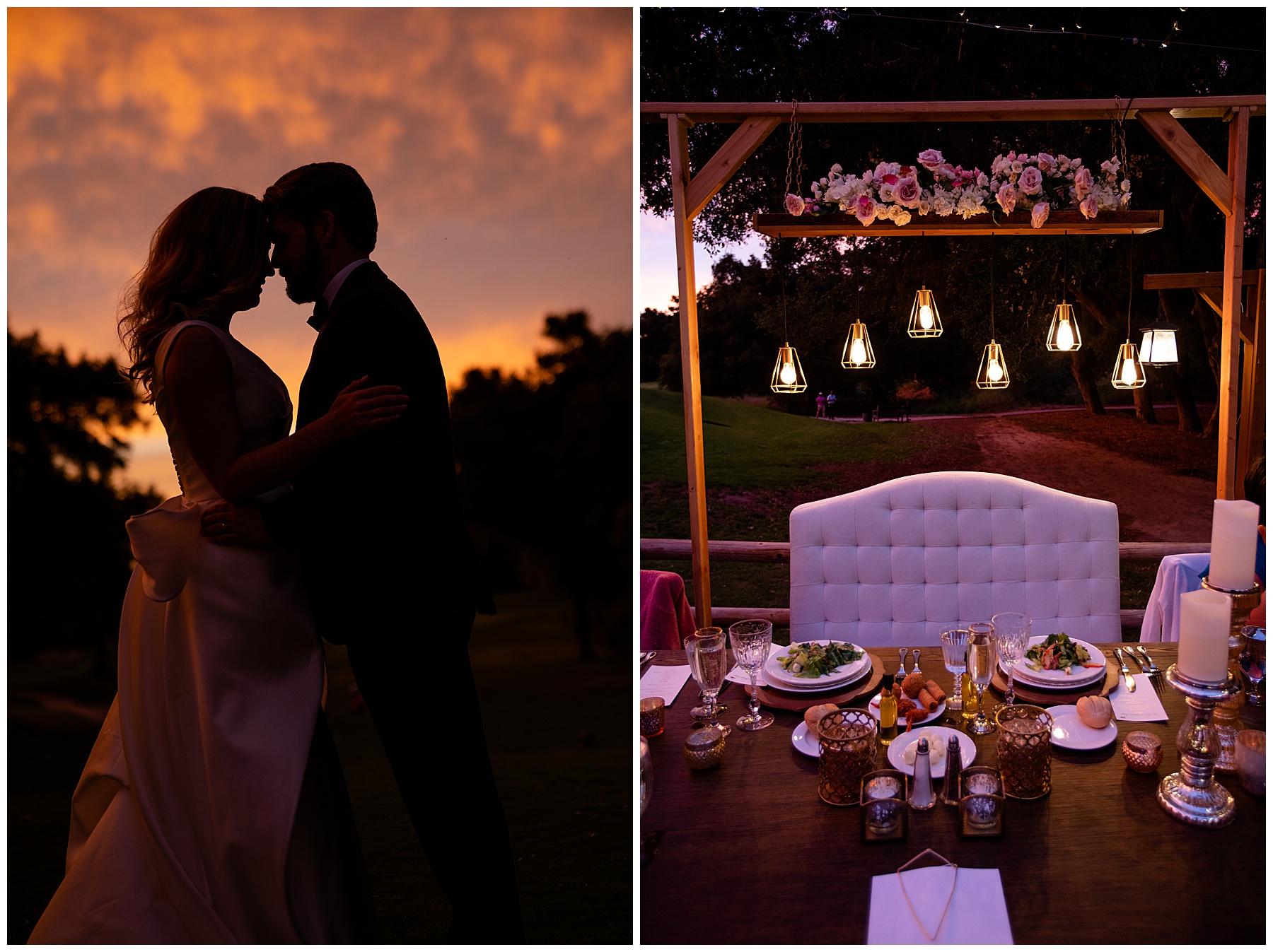 temecula creek inn wedding sunset